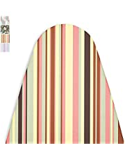 Encasa Homes Ironing Board Cover 'Luxury Line' with Extra Thick Pad - Multistripes