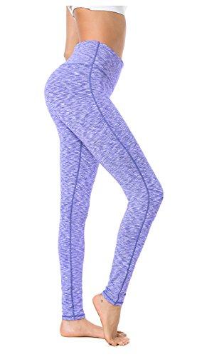Queenie Ke Damen Power Flex Yoga Hosen Training Laufende Leggings Farbe Blau/Weiß Größe L