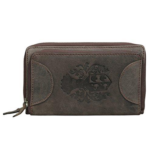 Style98 Brown Hunter Leather Handmade Women's Wallet||Clutch||Handbag||handy wallet||Party wear Clutch