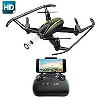 Potensic Drone U36W con Control Remoto, Función de Estabilización de Altitud, WiFi FPV 2.4Ghz Cámara HD, Funciones de Aterrizaje y Despegue y Alarma de Fuera Límite de Vuelo Antiperdida