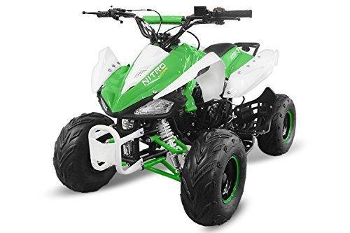 "Kinderquad Speedy 125cc RG7 7\"" Automatik+Rückwärtsgang Quad ATV Bike Midi Buddy Pocket Kinder (Weiss-Grün)"