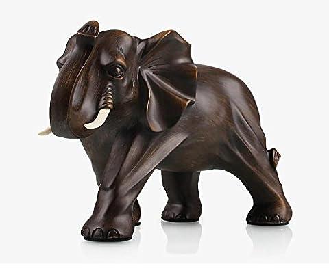 Artisanat Décoration d'éléphant Salon de la maison TV Meuble à vin Décoration de la résine move Déplacer Nouveau cadeau de maison , m