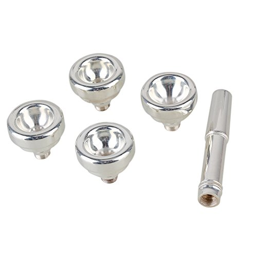 BQLZR Argento Verniciato rame Bocchino per Tromba 1-1/2C, 3C, 5C, 7C multifunzione strumenti musicali