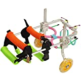 Hunderollstuhl , Verstellbarer Hunderollstuhl für Vorder- und Hinterbeine, behindertengerechte Kinderwagen Rehabilitation Hundegeschirr für Rollstuhlfahrer, Gehhilfe Rollstuhl für Hinterbeine Pet 2 Wh
