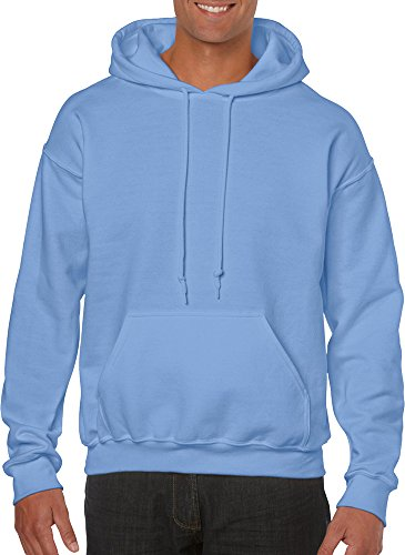 GILDAN Herren Kapuzenpullover Blau Carolina Blue X-Large (Carolina Kapuze Blau Sweatshirt)
