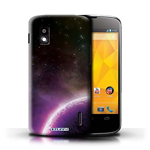 Kobalt® Imprimé Etui / Coque pour LG Nexus 4/E960 / Nébuleuse Verte conception / Série Cosmos Planète Pourpre