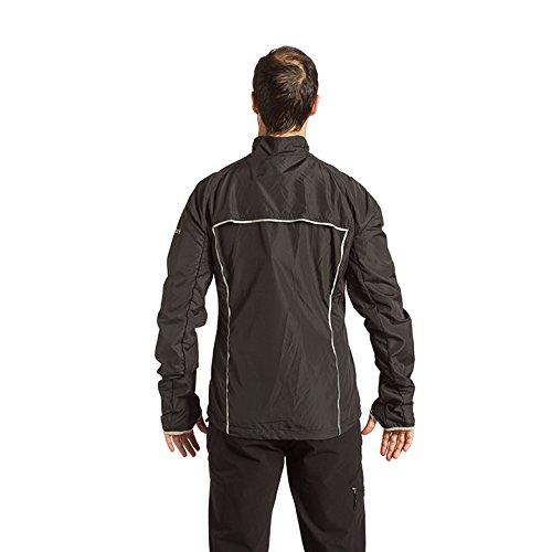 IZAS Herren Running Jacket BREZEL Black