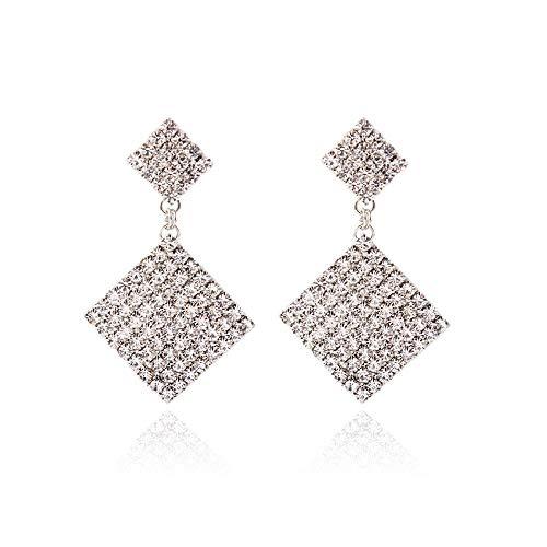 Ohrringe übertrieben geometrische Ohrringe Mode Klaue Kette Licht Luxus voller Diamanten glänzend Ohrschmuck Mode Persönlichkeit wilden Anhänger Platz feinen Schmuck Party Geschenk Zubehör, 1