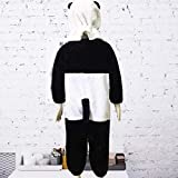 HBOS Kinder Fleece Onesie - Panda Kostüm Jumpsuit Onesie Tier Fasching Karneval Halloween kostüm Kinder Unisex Cosplay Schlafanzug