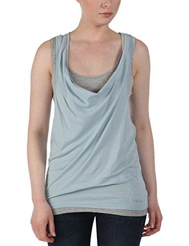 Bench - Tank Top Skinnie, Camicia di maternità Donna, Multicolore (Celestial Blue), Small (Taglia Produttore: Small)