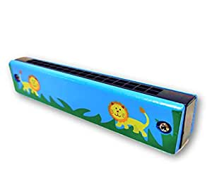 Wooden Mouth Organ for Kids with Painted Design for Fun