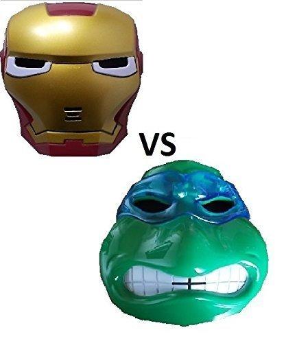 Stück neue Ninja Turtle und neue Iron Maske mit LED Beleuchtung für Kinder