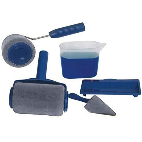 Outil de Peinture Murale Multifonction Bricolage DIY Outil de Peinture pour Murs Brosse à rouleau de peinture 5-en-1 Y476-5 (Sans Rallonges)
