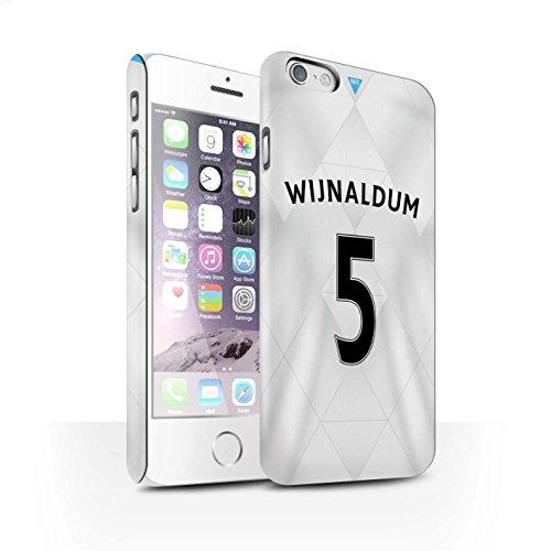 Offiziell Newcastle United FC Hülle / Matte Snap-On Case für Apple iPhone 6 / Pack 29pcs Muster / NUFC Trikot Away 15/16 Kollektion Wijnaldum