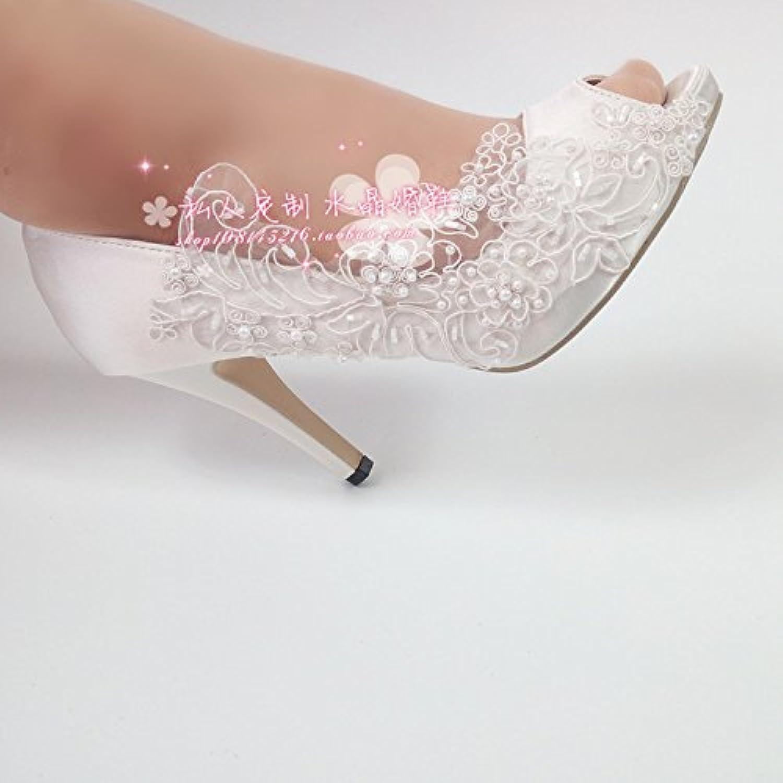 VIVIOO Prom Sandals bianca Flowers Pearl Pearl Pearl Wedding scarpe Bride Bridesmaids Wedding Photo Waterproof Platform Shallow... | Prestazioni Affidabili  57a500