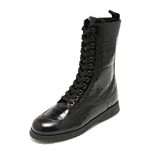4806G stivaletto donna nero HOGAN traditional tronchetto scarpa boots shoes wome Nero