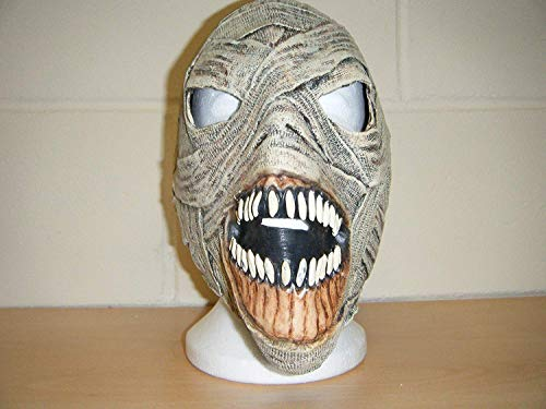 WRESTLING MASKS UK Mumie Zombie Monster Horror LUXUS Halloween Voller Kopf Kostüm Kostüm Maske (Mumie Maske Kostüm)