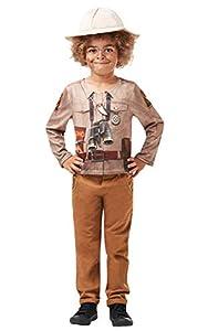 Rubies 640787L - Kit de disfraz oficial de Dino Explorer, Safari Jungle Zoo Keeper, para niños, talla grande de 7 a 8 años, unisex-infantil, multicolor