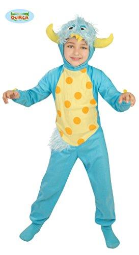 Blaues Monster Kostüm für Kinder Gr. 110 - 134, ()