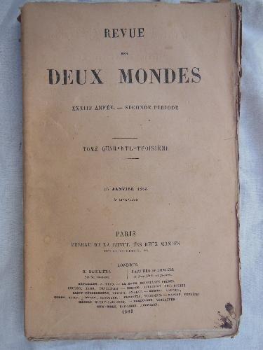 REVUE DES DEUX MONDES. Tomo 43, 15 janvier 1863