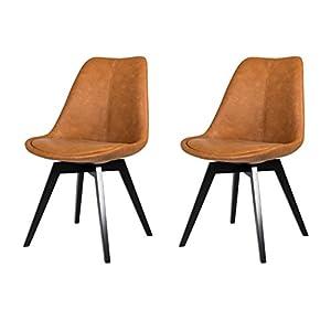 Tenzo 2er- Set Stühle, Holz, Anthrazit, 54 x 48 x 82 cm