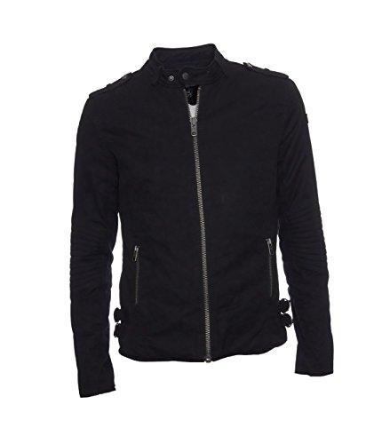 TIGHA Herren Jacke Winterjacke Winter warm - Baumwolle - schwarz black XL