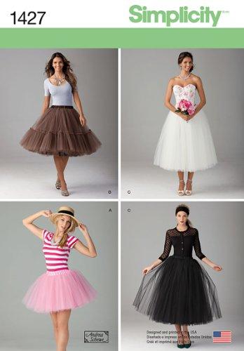 Simplicity 1427 Patrons de Couture pour Jupe en Tulle pour Femme en 3 Longueurs Tailles 32-40