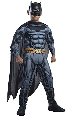 fasching batman Rubie's Batman-Deluxekostüm für Kinder Fasching schwarz 104 (3-4 Jahre)