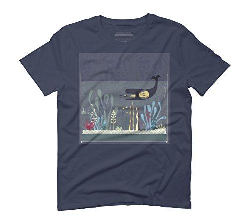The Fishtank Men's Graphic T-Shirt - Design By Humans Navy