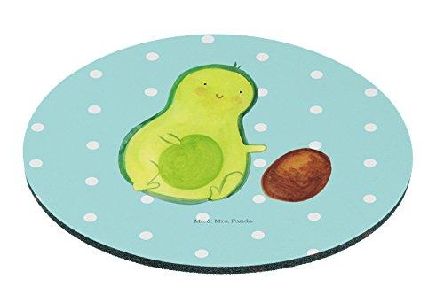 Mr. & Mrs. Panda Mauspad rund Avocado rollt Kern - 100% handmade in Norddeutschland - Kind, Gummi Natur Kautschuk, Schenken, Motiv, Avocados,Schwanger, Arbeit, Love, Babyparty, PC, erstes Kind, Druck, Kreis (Rollt)