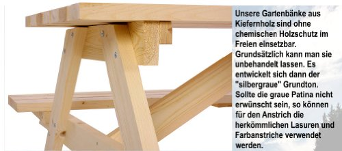 massive picknickbank gartenbank gartentisch sitzgruppe holzbank garnitur garten holz bank tisch. Black Bedroom Furniture Sets. Home Design Ideas