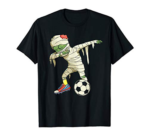 Betupfen der Zombie-Mama-Fußball-Spieler-Studenten-Halloween T-Shirt