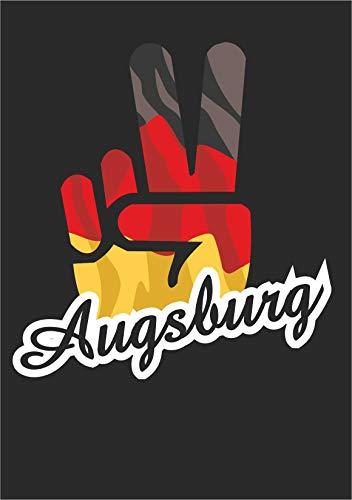 INDIGOS UG - Aufkleber - Autoaufkleber - Sticker - Deutschland - Stadt Augsburg - ca. 10x8cm - Victory - Sieg - Heckscheibe, Kofferraum, Laptop, Fussball, Sport, Schule, Tuning - Sport Ordner Schule