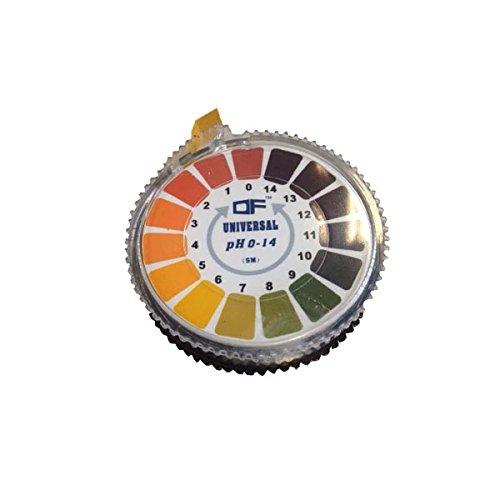 Rouleau/bandes papier de tournesol universel indicateur de pH (pH-0 à 14 1) 5 m