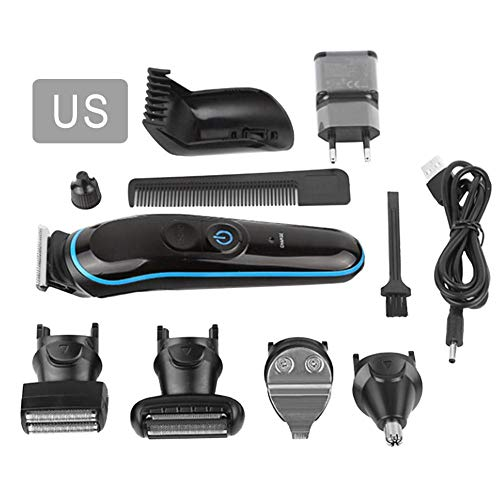 Knowled 5 in 1 Mens Grooming Trimmer USB Rechargeable Electric Shaver Nose Hair Eyebrow Electric Razor Nose Ear Hair Trimmer for Men Women Waterproof Beauty Kit -