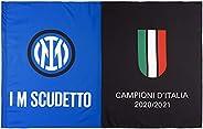 Inter Bandiera I M Scudetto 20-21, Campioni d'Italia, 140x220cm, Unisex Adulto, Nero/Blu, 140