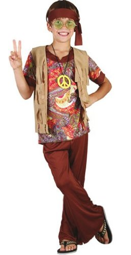 Hippie-Kostüm für Jungen - 7-9 Jahre (Kinder Jungen Hippie Kostüme)