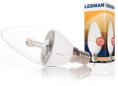 LEDMAN E14 LED Lampe 5 Watt - 360° Abstrahlwinkel - 440lm - Warmweiß - 230V - SMDs Kerze von LEDMAN auf Lampenhans.de