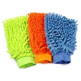 #1: MODX Micro Fiber Super Mitt Hand Glove Duster for Car / Office / Home (Set of 3)- Assorted