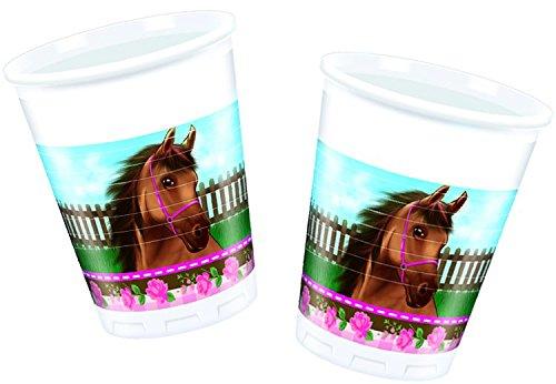 NEU Trinkbecher Pferdetraum, 8 Stk., 200 (Einer Anderen Pferd Kostüm Farbe Von)