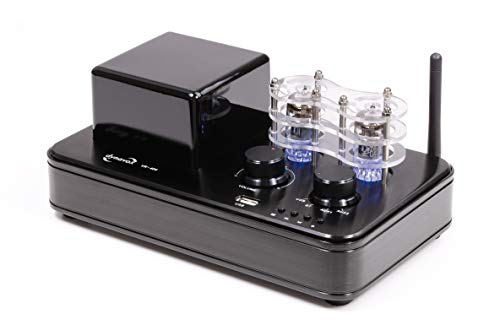 Dynavox Hybrid-Verstärker VR-400, Röhren mit LED-Beleuchtung, kompakte Stereo-Anlage mit USB, BT-Funktion zum Musik-Streaming von Smartphone, Tablet, PC - Musik-smartphone