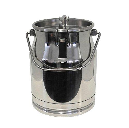 Ellofence Milchkanne 10 Liter - Edelstahl mit Deckel