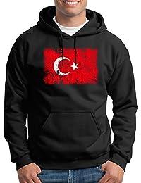 41daded838cd1 Touchlines Merchandise Turquie Vintage bannière Drapeau Sweats à Capuche  Homme