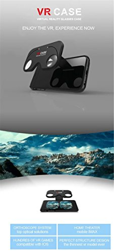 eimolife® Neue Version VR Kit -iPhone 6 / 6S VR ​​Fall 3D-Brille - Tauch Movie Game Karton - Sift Ihr Handy-Fall zu Virtual Reality Device- Google Virtual Reality VR Box-Gang für iPhone 6 6S 4.7