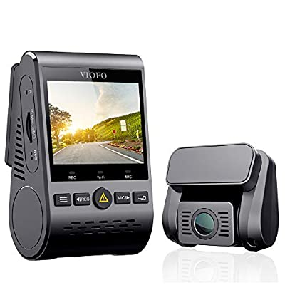 """Dash Cam VIOFO A129 Duo Dual Full HD 1080P Sony Sensor Front and Rear Cameras Super Night Vision 2.0"""" LCD 5GHz Wi-Fi GPS Included, Buffered Parking Mode, Motion Detection, G-sensor, WDR"""