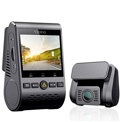 """VIOFO Autokamera Dashcam A129 Duo Dual Full HD 1080P 2.0\"""" Diskretes Design WiFi Vorne und Hinten Kamera Nachtsicht mit GPS, 24h Überwachung, G-Sensor, Bewegungserkennung, Loop-Aufnahme"""