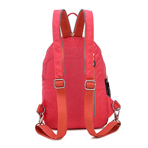 TianHengYi Girls Small Water Resistant Nylon Backpack light Sling Chest Bag Rose Pink