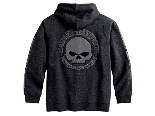 HARLEY-DAVIDSON Hooded Skull Sweatshirt Herren Hoodie, 99107-18VM, XXL - Harley Davidson Hoodie