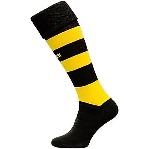 Medias de fútbol modelo C Medias de fútbol del surtidor 100% transpirable muchos colores, color Varios colores - negro/amarillo, tamaño 38-41