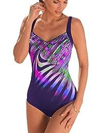 4838fc7c7d8383 Leslady Badeanzug Damen Bauchweg Figurformend Push up Große Größen  Sportlich Beachwear Bademode Strandmode